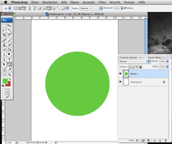 Grüner Button in Photoshop machen